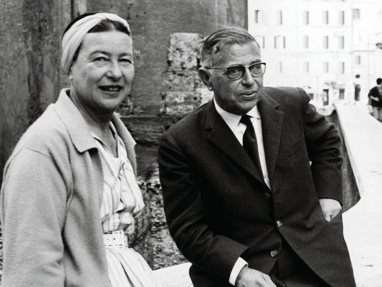 Simone De Beauvoir en Jean-Paul Sartre (1963)  Beeld Keystone-France