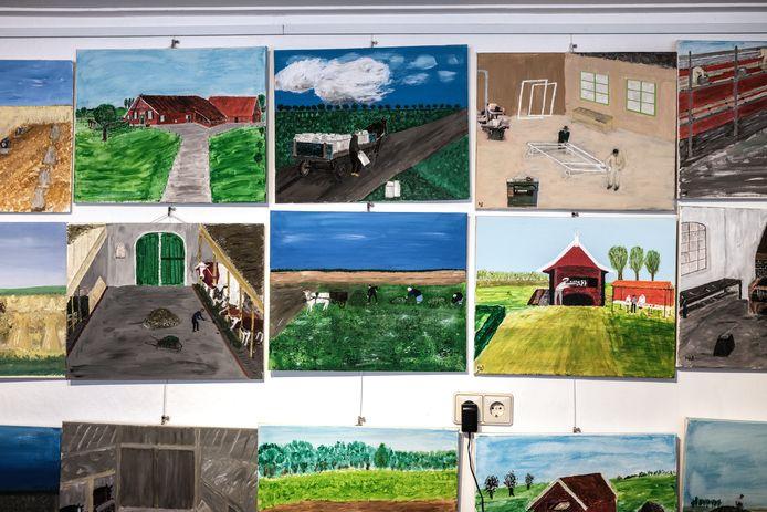 JV 11102021 De Heurne Nl / Wim Jansen schildert oude beroepen met een gedicht/ Foto : Jan Ruland van den Brink