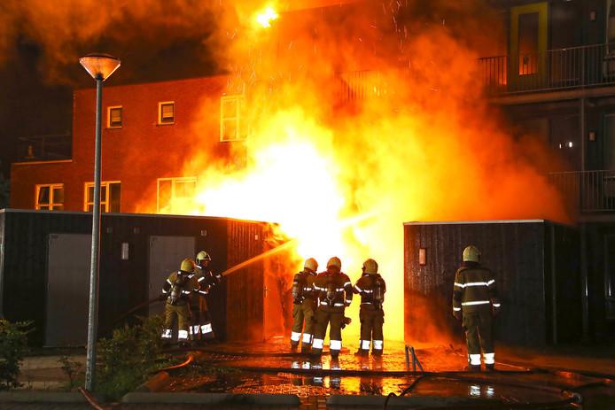 Brand appartementencomplex Oss