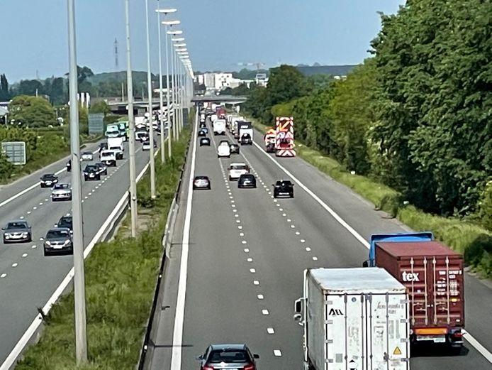De E17 in Deerlijk.