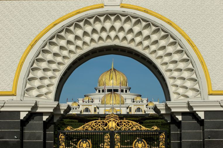 Het nationaal paleis in Kuala Lumpur, Maleisië.