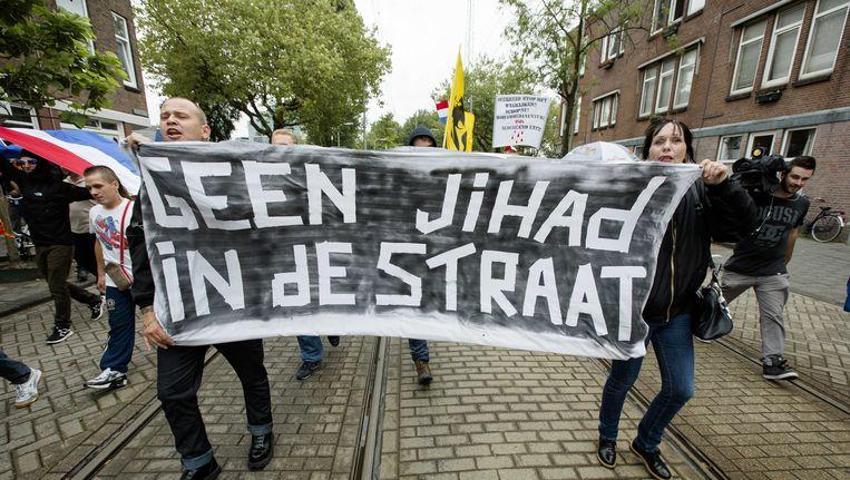 Een eerdere demonstratie van Pro Patria in Den Haag. Beeld anp