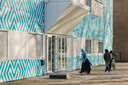 Cornelius Haga Lyceum, een islamitische middelbare school aan de Naritaweg in Amsterdam.