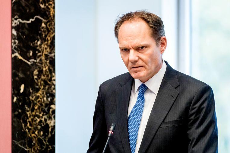 AMSTERDAM - Oud-D66-wethouder Udo Kock tijdens een Amsterdamse raadsvergadering in verband met zijn opstappen na de problemen bij het Afval Energie Bedrijf. Beeld Hollandse Hoogte /  ANP