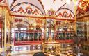 De inbrekers sloegen hun slag in een van deze vitrines in de juwelenzaal van het museum.