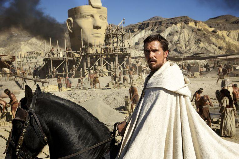 Christian Bale als Mozes in de film Exodus. Beeld 20th Century Fox