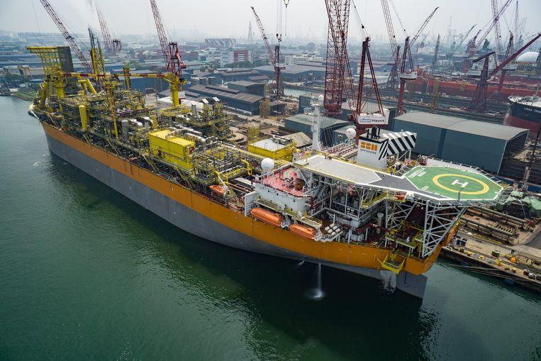 Via de Turritella zal Shell olie oppompen in het Stones-veld in de Golf. De tanker heeft een productiecapaciteit van 60.000 vaten per dag. Beeld Shell