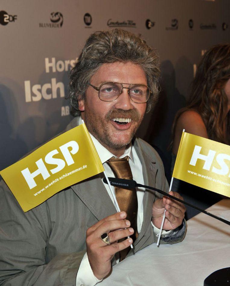 De Duitse komiek Hape Kerkeling speelt met zijn alter ego Horst Schlämmer een onverwachte rol in de Duitse verkiezingscampagne. Foto GPD Beeld