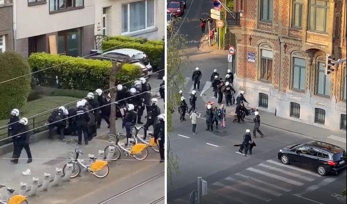 Twee filmpjes van het politieoptreden in de buurt van het Ter Kamerenbos zorgen voor opschudding.