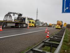 Ongeluk met tankauto op A58: file tussen Bergen op Zoom en Roosendaal