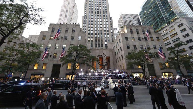 Het bezoek van de paus aan New York. Beeld afp