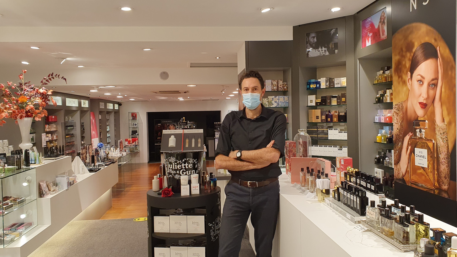 Bij Meylandt parfumerie is de coronacadeaubon van de stad dubbel zoveel waard.