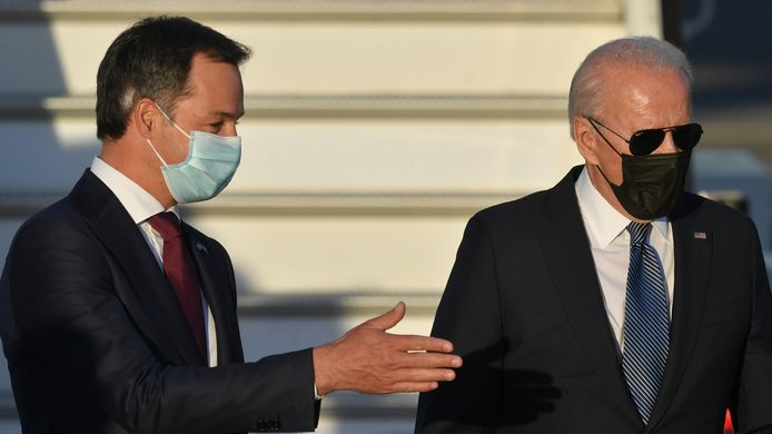Premier Alexander De Croo en de Amerikaanse president Joe Biden