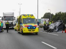 Aanrijding op A1 van Apeldoorn naar Deventer, weg volledig afgesloten