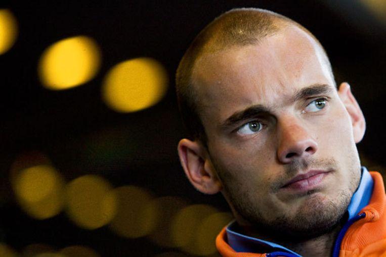 Hoewel maandag de grootste boosheid bij Sneijder was verdwenen, heeft de voormalige Ajacied geen vrede met de beslissing van Van Marwijk. Foto ANP/Ade Johnson Beeld