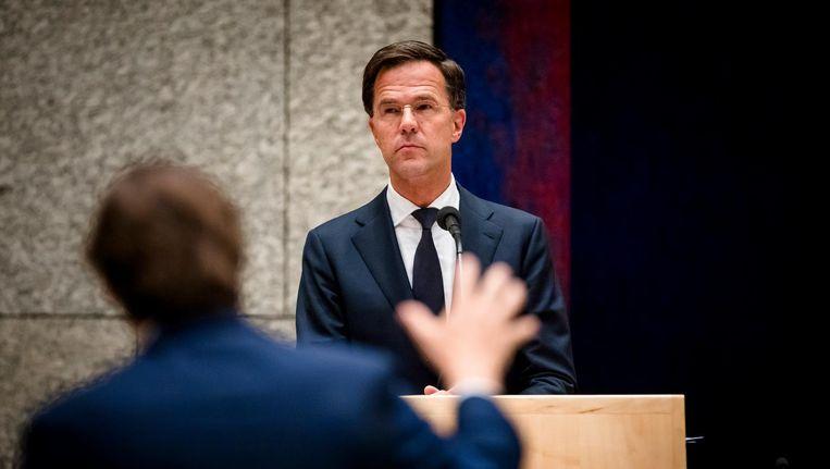 Mark Rutte verdedigt de maatregel fanatiek Beeld anp