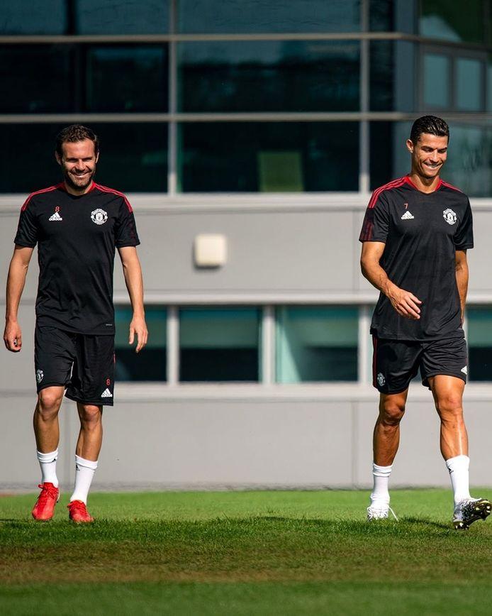 Juan Mata en Cristiano Ronaldo.