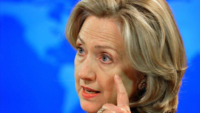 'Hillary Clinton moet nu aan damage control doen'. Beeld afp