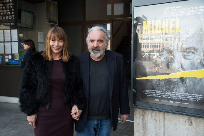 Michel tijdens de voorstelling van de film in Gent.