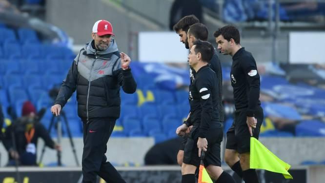 Geen prettige middag voor Liverpool: VAR keurt twee goals af waarna Reds averij oplopen tegen Trossard & co, Klopp in de clinch met journalist