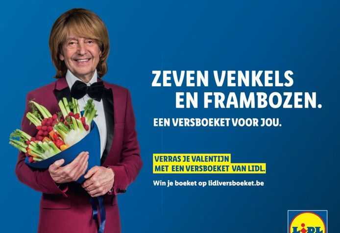 Willy Sommers in een Lidl-reclame.