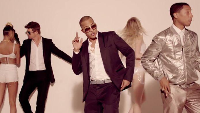T.I. is bekend van de monsterhit 'Blurred Lines' met Robin Thicke en Pharrell Williams.