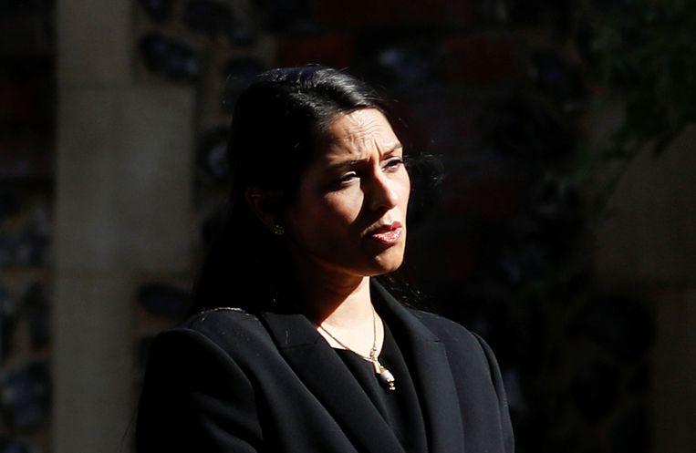 De Britse minister van Binnenlandse Zaken Priti Patel: mogelijk een lockdown voor Leicester. Beeld REUTERS