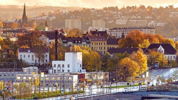 Ochtendpanorama van Oslo.