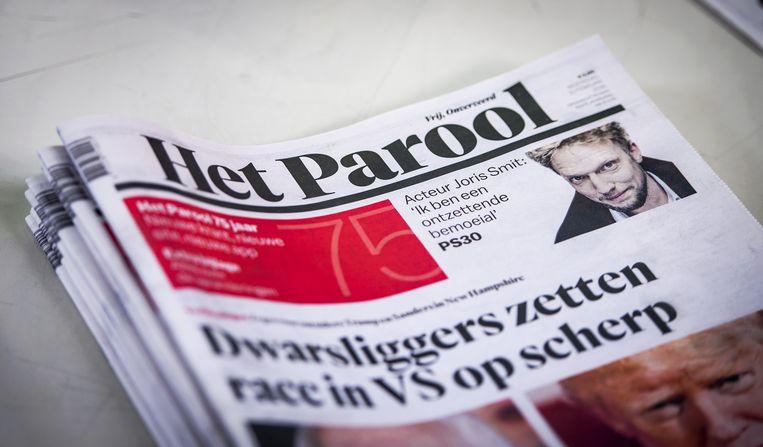 Op de dag dat Het Parool 75 jaar bestaat komt deze uit met een nieuw logo en een vernieuwde vormgeving. Beeld ANP