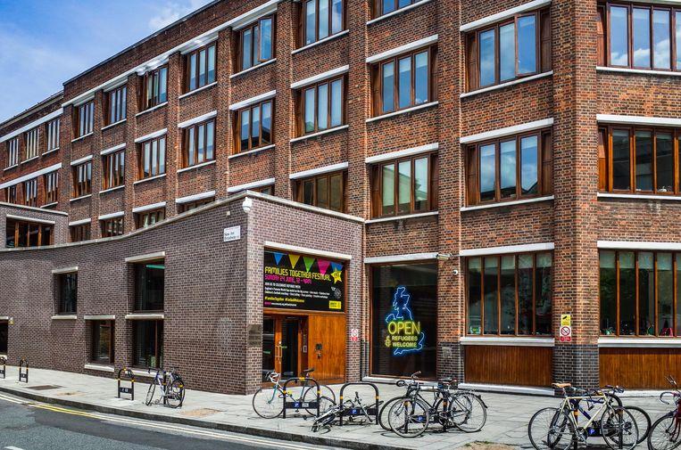 Het hoofdkantoor van Amnesty International in Londen. Beeld Alamy Stock Photo