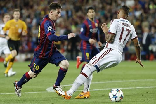 Lionel Messi na zijn legendarische goal tegen Bayern.