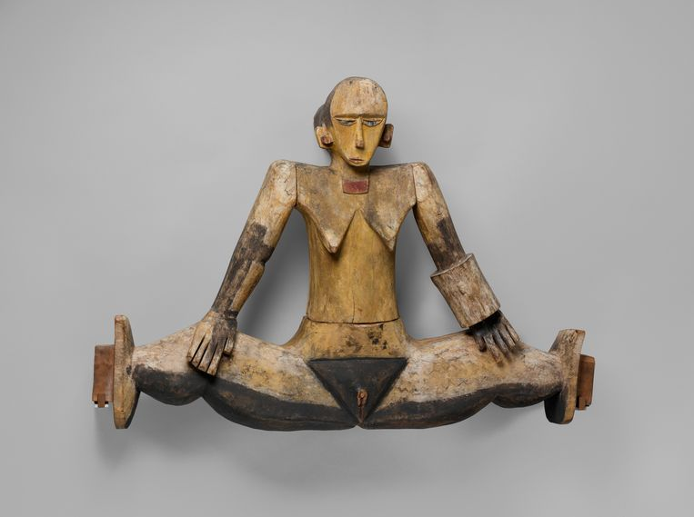 Dilukai, gevelfiguur, late 19de eeuw, Palau-eilanden, Micronesië, hout en verf, 66 x 96,6 x 26 cm, Metropolitan Museum New York Beeld Metropolitan Museum New York