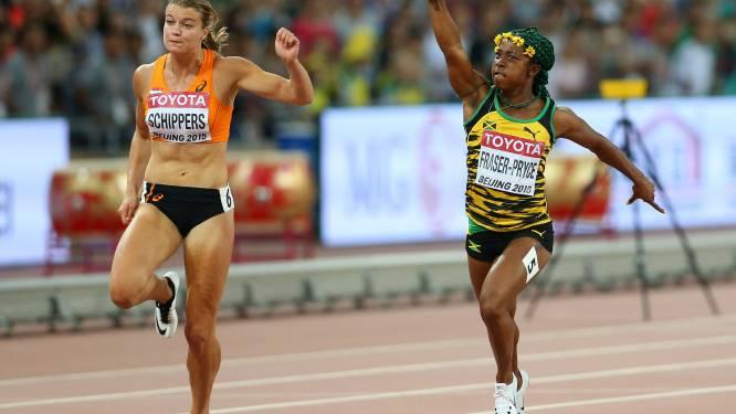 Fraser-Pryce pakt goud op 100m, zilver voor Schippers