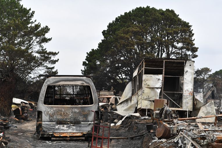 Zeker 1.200 huizen zijn in de staten New South Wales en Victoria in de as gelegd. Beeld EPA