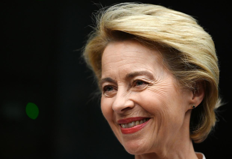 Ursula von der Leyen, de verrassende nieuwe voorzitter van de Europese Commissie.  Beeld EPA