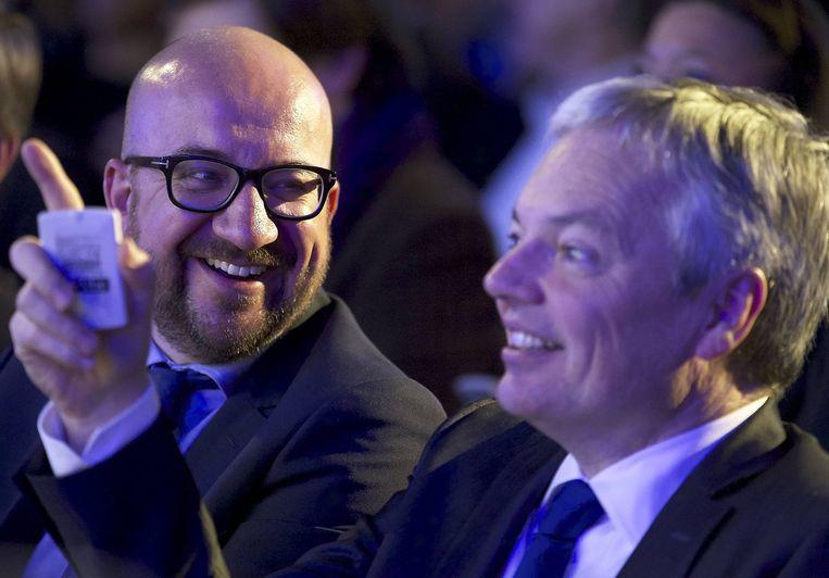 Charles Michel en Didier Reynders. Beeld BELGA