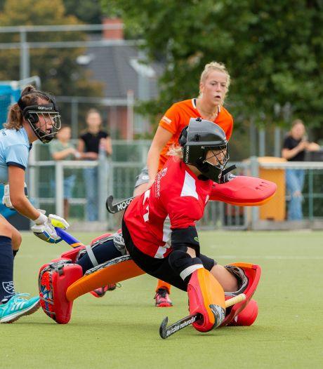 Hockeysters QZ in Nijmeegse stadsderby dichtbij stunt tegen NMHC