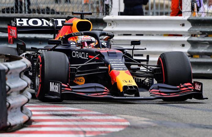 Max Verstappen tijdens de kwalificatie.