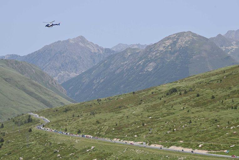 Renners in Andorra, zondag. Beeld ANP