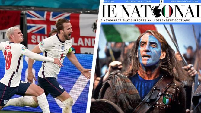 """Engeland historisch gezien in het nadeel tegen Italië, Schotse krant pakt uit met opmerkelijke frontpagina: """"Red ons, Roberto!"""""""