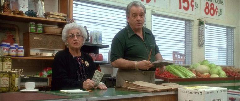 Scorseses moeder en Vinny Vella. Beeld null