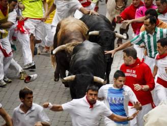 Stier neemt Fransman op de hoorns in Pamplona