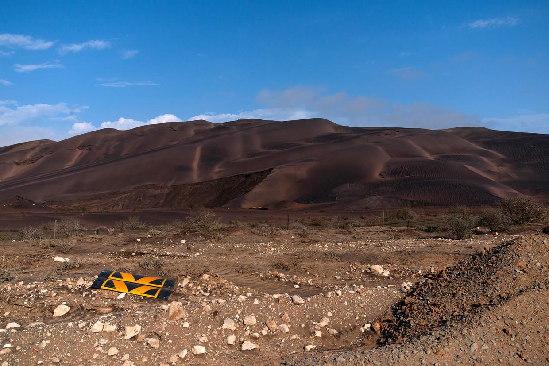 Een mijngebied aan de Zuid-Afrikaanse westkust. De organisatie Protect The West Coast verzet zich hier tegen de mijnbouw.