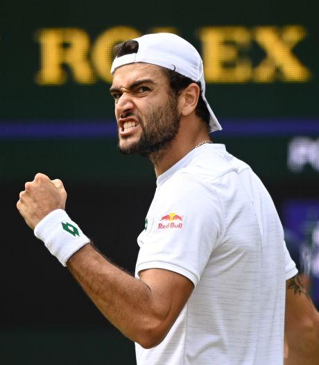 Berrettini tegen Federer-beul geen moment in de problemen op weg naar finale Wimbledon