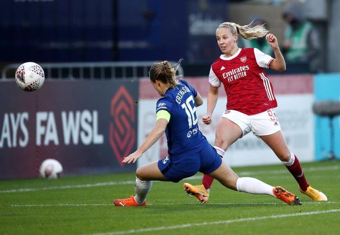 Magdalena Eriksson en Beth Mead.