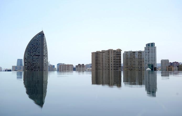 De skyline van Baku, hoofdstad van Azerbeidzjan.