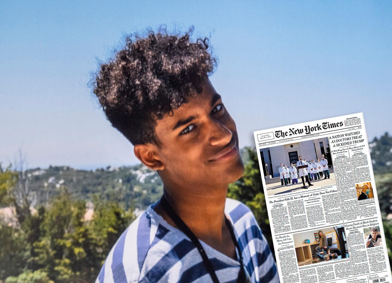 De zaak-Sanda Dia haalde vandaag de voorpagina van The New York Times. Beeld Tim Dirven
