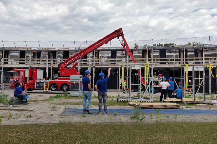 Bouwvakker gewond bij ongeval op bouwplaats Kindcentrum Zanddonk in Waalwijk