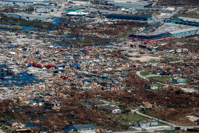 Great Abaco Island après le passage de l'ouragan