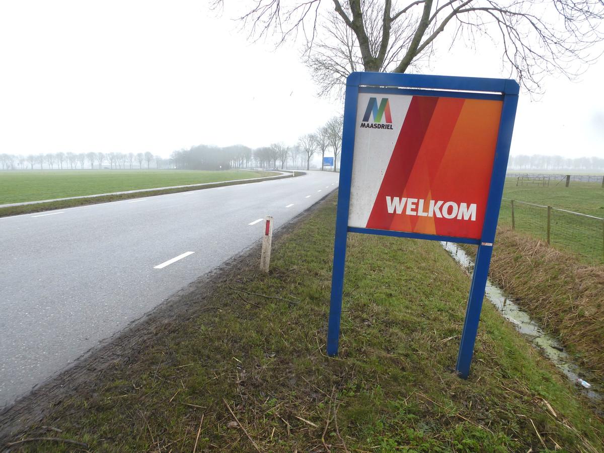 De gemeentegrens van Zaltbommel en Maasdriel bij Kerkwijk.